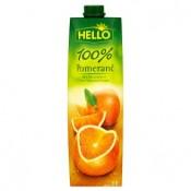 Hello 100% pomerančová šťáva z koncentrátu 1l