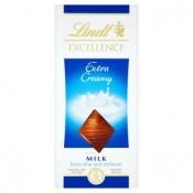 Lindt Excellence Extra smetanová mléčná čokoláda 100g