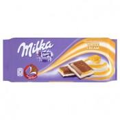 Milka Mléčná čokoláda z alpského mléka plněná mléčnou náplní s karamelovou příchutí 100g