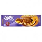 Milka Mléčná čokoláda z alpského mléka s karamelem a celými jádry lískových ořechů 300g