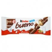 Kinder Bueno oplatka s čokoládovou polevou a mléčnou lískooříškovou náplní 2 x 21,5g