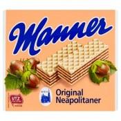 Manner Original Neapolitaner Křupavé oplatky s krémovou oříškovou náplní 75g