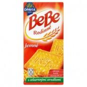 Opavia BeBe Rodinné jemné sušenky s máslovou a vanilkou příchutí s celozrnnými cereáliemi 130g
