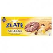 Opavia Zlaté Kolečka sušenky s máslovou chutí polomáčená s mléčné čokoládě 146g