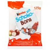 Kinder Schoko-Bons čokoládové bonbony z mléčné čokolády s mléčnou a lískooříškovou náplní 125g