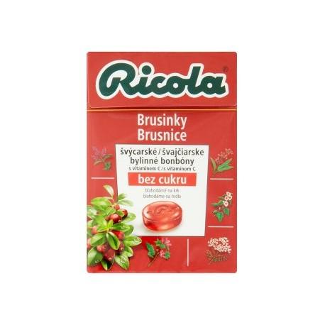 Ricola Brusinky švýcarské bylinné bonbóny 40g