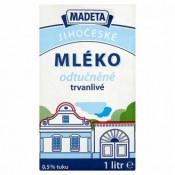 Madeta Jihočeské Mléko odtučněné trvanlivé 1l