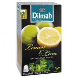 Dilmah Citrón & limetka cejlonský černý čaj 20 sáčků 30g