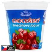 Choceňská Mlékárna Choceňský smetanový jogurt brusinkový 150g