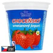 Choceňská Mlékárna Choceňský smetanový jogurt jahodový 150g