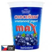 Choceňská Mlékárna Choceňský smetanový jogurt max borůvkový 380g