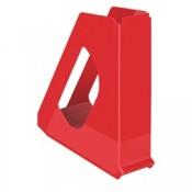 Stojan na časopisy Esselte VIVIDA - plastový, červená