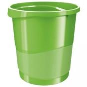 Odpadkový koš Esselte VIVIDA - plastový, zelený, objem 14 l