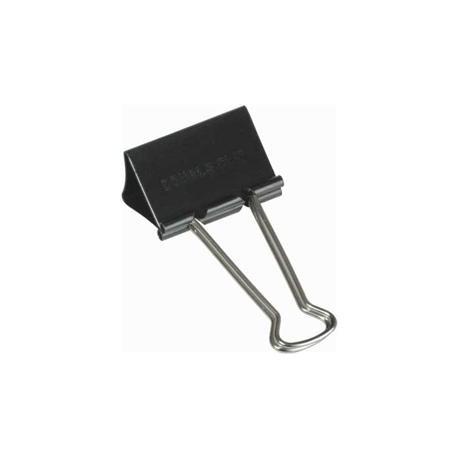 Černé kovové klipy, 32 mm x 12 ks