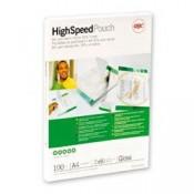 Laminovací fólie GBC Hi-Speed - A4, 2x 80 mikronů, čiré, 100 ks
