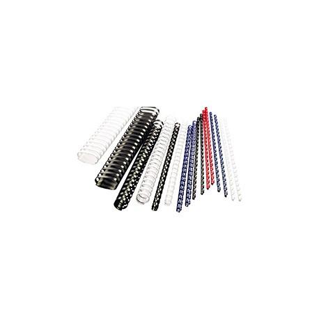 Hřbety plastové GBC 8 mm, černé, 100 ks