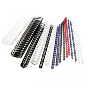 Hřbety plastové GBC 10 mm, černé, 100 ks