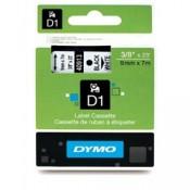 Páska Dymo D1 šířka 9 mm/návin 7m, černá / bílá