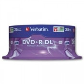 Disky DVD+R DL Verbatim - cake box, 25 ks