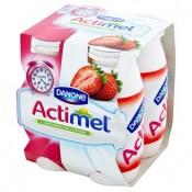 Danone Actimel Jogurtové mléko jahodové 4 x 100g