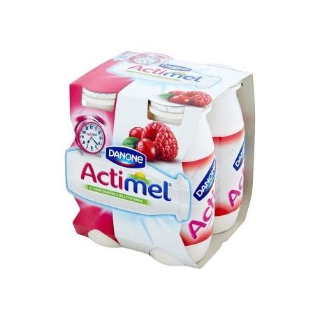 Danone Actimel Jogurtové mléko malinovo-brusinkové 4 x 100g