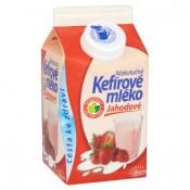 Mlékárna Valašské Meziříčí Nízkotučné kefírové mléko jahodové 450g
