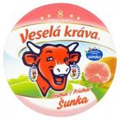 Veselá Kráva Šunka tavený sýr 8 ks 140g