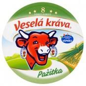 Veselá Kráva Tavený sýr s pažitkou 8 ks 140g