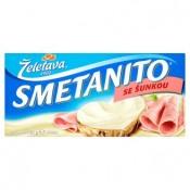 Želetava Smetanito Tavený smetanový sýr se šunkou 3 ks 150g