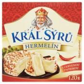 Král Sýrů Hermelín s červenou paprikou 120g