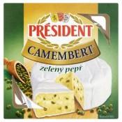 Président Camembert zelený pepř 90g