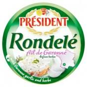 Président Rondelé Čerstvý sýr s česnekem z kraje Garonne a s bylinkami 100g
