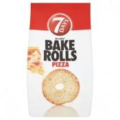 7 Days Bake Rolls Křupavé chlebové chipsy s příchutí pizzy 70g