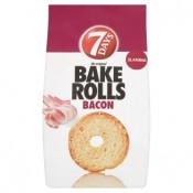 7 Days Bake Rolls Křupavé chlebové chipsy s příchutí slaniny 70g
