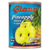 Giana Ananas plátky v mírně sladkém nálevu 565g