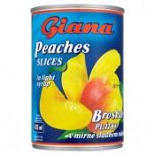 Giana Broskve plátky v mírně sladkém nálevu 410g