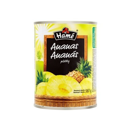 Hamé Ananas plátky v sladkém nálevu 567g