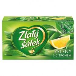 Zlatý Šálek Zelený čaj s citronem aromatizovaný 20 x 1,5g