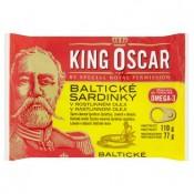 King Oscar Baltické sardinky v rostlinném oleji 110g