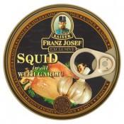 Kaiser Franz Josef Exclusive Kalamáry s česnekem v rostlinném oleji 170g