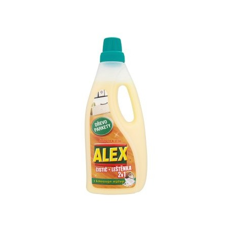 ALEX 2v1 čistič + leštěnka s kokosovým mydlem na dřevo a parkety 750ml