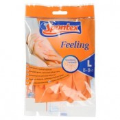 Spontex Feeling gumové ochranné rukavice velikost L