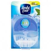 Ambi Pur Fresh & Shine 2v1 fresh water & mint tekutý toaletní blok 55ml