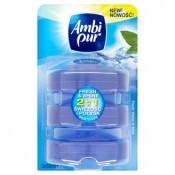 Ambi Pur Fresh & Shine 2v1 fresh water & mint tekutý toaletní blok 3x55ml