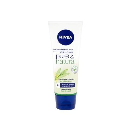 Nivea Pure & Natural ochranný krém na ruce 100ml