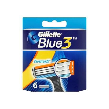 Gillette Blue 3 Náhradní hlavice k holicímu strojku 6 ks