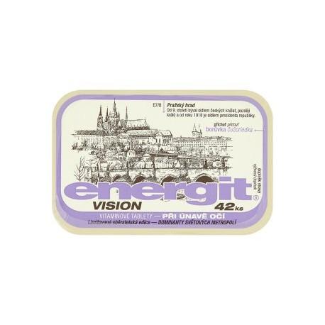 Energit Vision vitaminové tablety při únavě očí příchuť borůvka 42 ks 38g