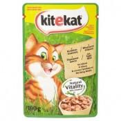 Kitekat Krůtí maso ve šťávě kompletní krmivo pro dospělé kočky 100g