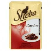 Sheba Cuisine Hovězí maso kompletní krmivo pro dospělé kočky 85g