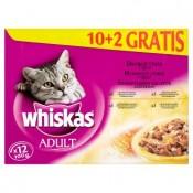 Whiskas Adult Drůbeží výběr kompletní krmivo pro dospělé kočky 12 x 100g